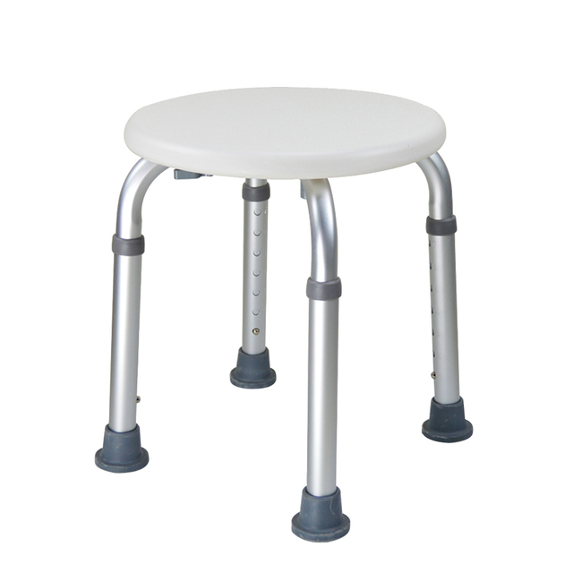 Adjustable Bath Tub Shower Chair 8 Height Bench Stool Seat with Non Slip Rubber Sole for Bathroom