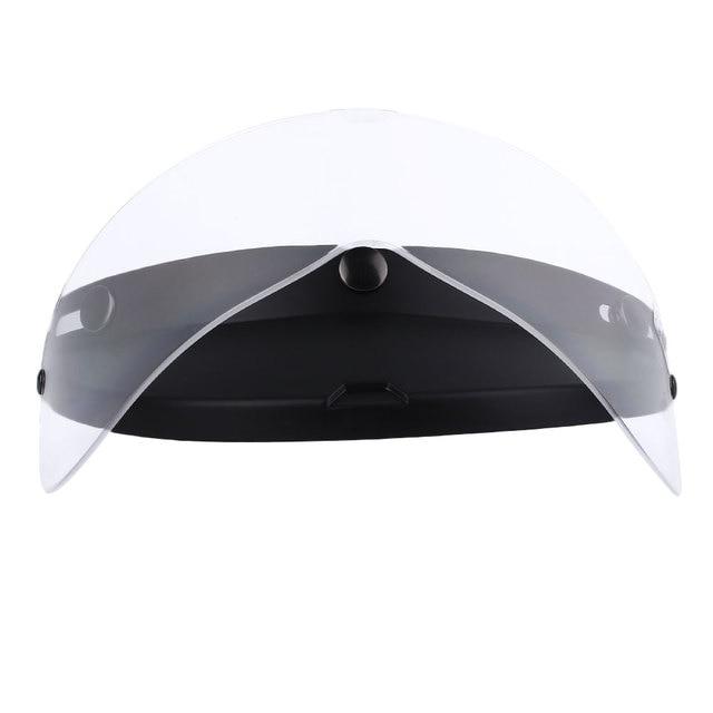 Vehemo Clear Flip Up Drop Down Sun Visor Shields Lens For Retro Open  Motorcycle Helmet ef90cd52784