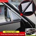 QCBXYYXH автомобильный Стайлинг ABS Накладка защита автомобиля передняя дверь внутренняя треугольная хромированная отделка для Nissan Patrol y62 2017 2018