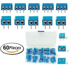 MCIGICM высокое качество 5,08 301 2 P 2 Pin 3pin PCB крепление питания винт Клеммная колодка Разъем для Arduino