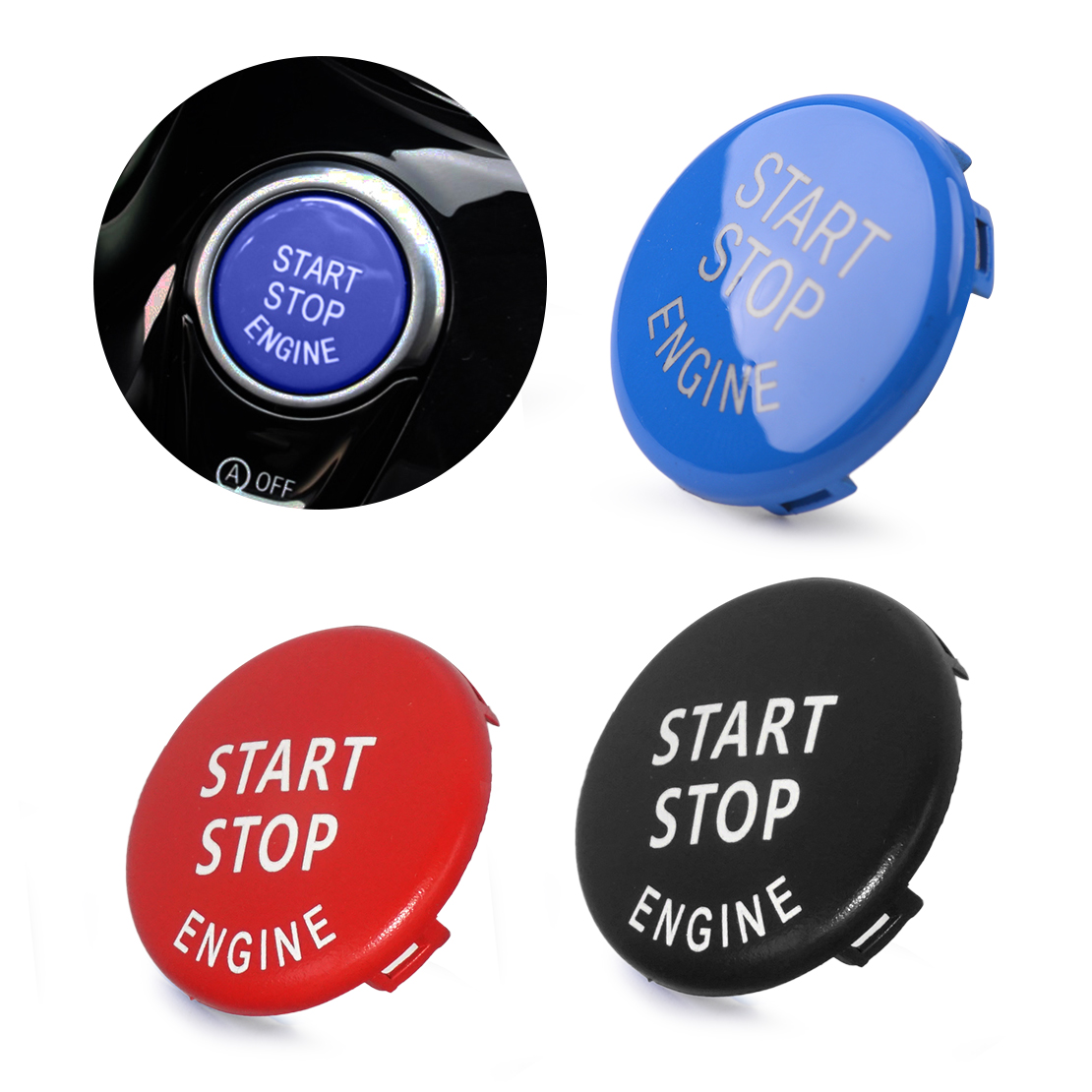DWCX ABS Car Engine Ignition Start Stop Switch Push Button Ring Trim Cover Fit For BMW 3 5 Series E90 E91 E92 E93 E60 image