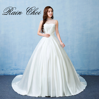 2017 Ball Gown Wedding Dresses Hihg Neck Formal Bridal Gowns Vestido De Noiva