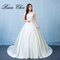 2017 Ball Gown Wedding Dresses Hihg Neck Formal Bridal Gowns Vestido De Noiva
