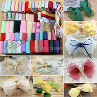 High quality!79 Meters Pure Colors Sweet Organza Ribbons DIY Hairpin Bows Accessory Material Satin / Grosgrain Frozen Ribbon Set