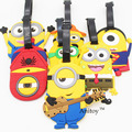 Despicable Me Minion Cosplay Minions creative silicone luggage tag pendants hang tags checked brand tourist products KT2706