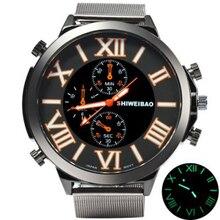 Roma de Acero Inoxidable Cinturón de Moda Casual Relojes de Cuarzo Reloj Deportivo Reloj de Los Hombres Relogios masculino
