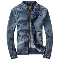 New Retro Classics Denim Jacket Men Vintage Clothes Casual Slim Jackets Men S Outdoor Coat Jeans
