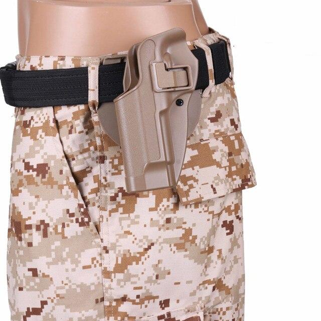 2017 New Arrival CQC M92 1set pistol gun Holster Polymer ABS Plastic waist belt gun holster fit Airsoft right hand