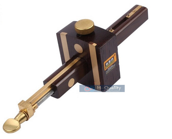 高級イギリスインドネシア黒檀+純粋な銅耐摩耗性大工木工ツール8インチねじ切断ゲージマークスクレーパースクライバー