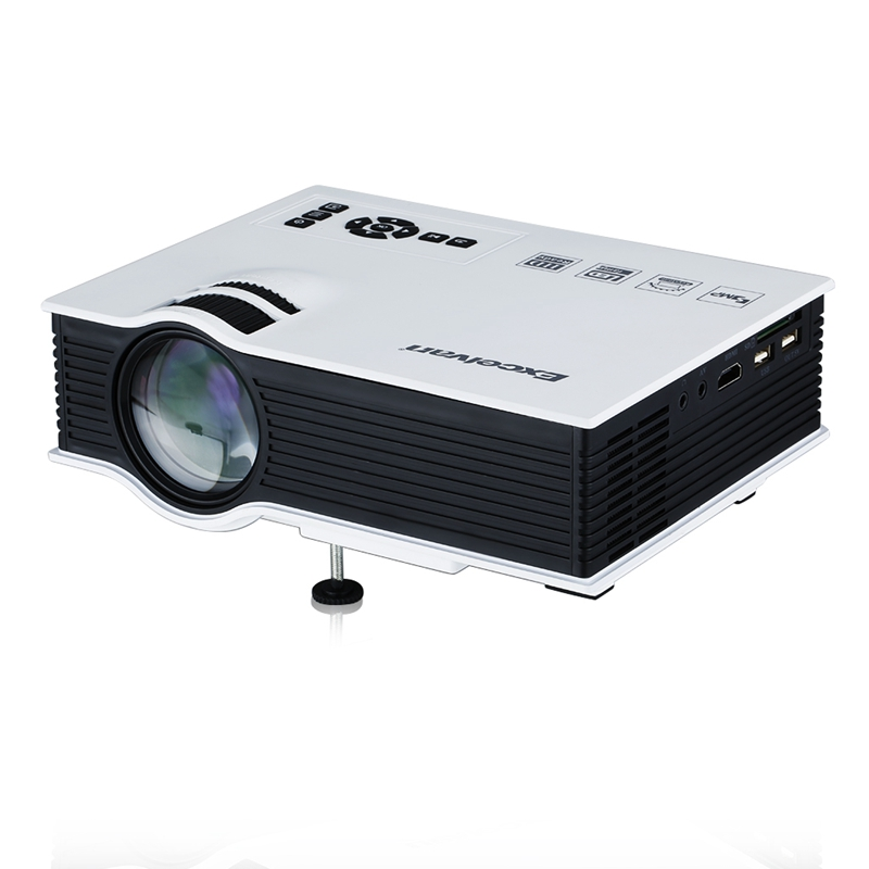 800 Lumens Home Theater Mini Portable Led Multimedia: Excelvan UC40 800 Lumens Portable Mini LED Projector