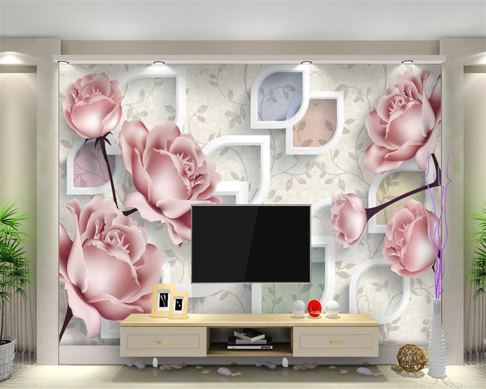 Beibehang Custom Wallpaper Modern Simple Floral 3D Stereo TV Background Wall Decorative Background Mural Background 3d Wallpaper