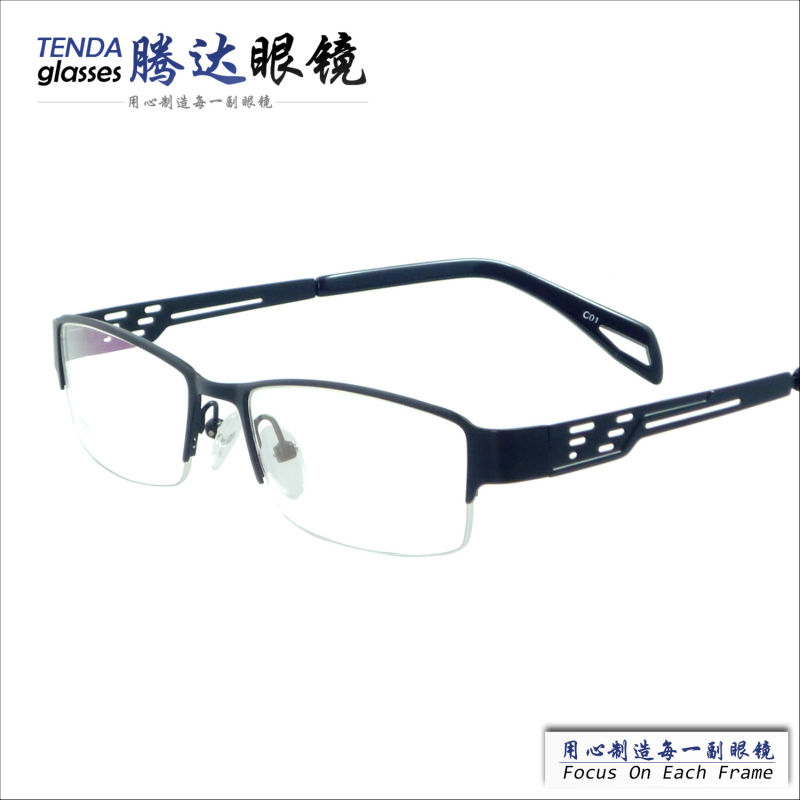 new arrival designer half rim cheap men glasses frames for prescription lenschina