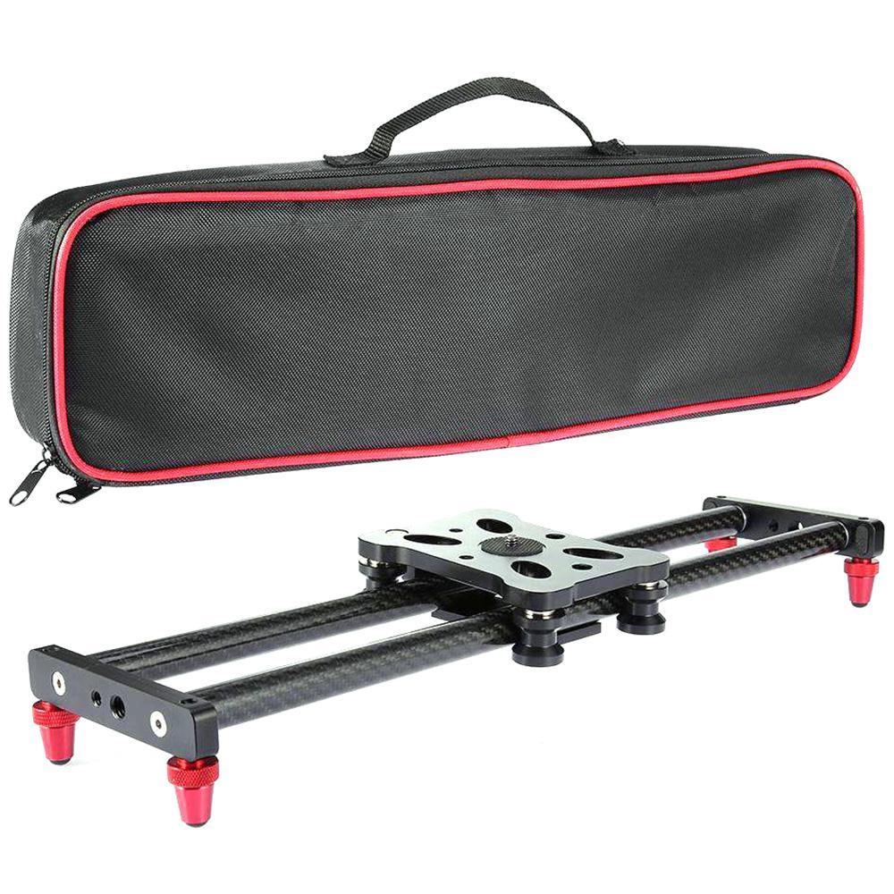 DSstyles 40CM caméra curseur réglable en Fiber de carbone caméra Dolly piste curseur vidéo stabilisateur Rail
