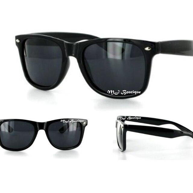 b27ad6764fd9e Black Retro Sunglasses Super Dark Lens-in Sunglasses from Men s ...