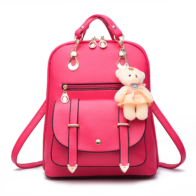 c8a4ee2bfff8 ZOORON 2017 Women Backpack New Spring And Summer Students Backpack Girls  Korean Style Backpacks With Bear High Quality-in Backpacks from Luggage    Bags on ...