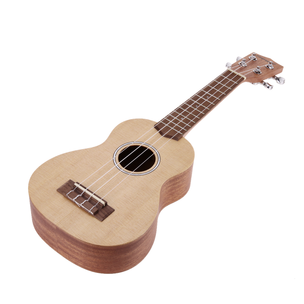 21 inch Ukulele Spruce Wood Fretboard with Aqulia String and Ukulele Bag Stringed Musical Instruments Accessories niko black 21 23 26 ukulele bag silver edge nylon soprano concert tenor soft case gig bag 5mm thick sponge
