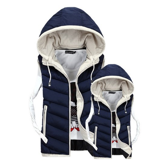 Sleeveless Down Jacket Warm Hooded Vest Waistcoat Thick Parkas For Men Winter Coat Male Plus Size Padded Vests XXXL 4XL free shipping winter parkas men jacket new 2017 thick warm loose brand original male plus size m 5xl coats 80hfx