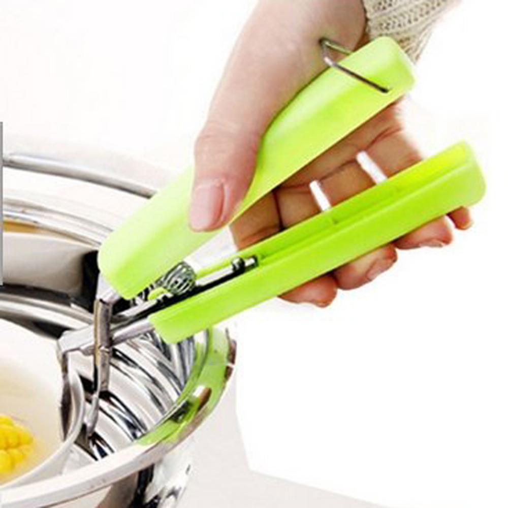 Silicone Handle Hot Bowl Holder Dish Clamp Pot Pan Gripper Clip Hot Dish Plate Bowl Clip Retriever Tongs Kitchen Tool