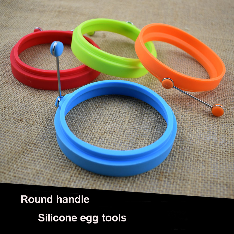Silicone Omelette Maker Egg Ring Tools Non stick Ring Maker heart Perfect Round Shape Soap Cake Mould Breakfast Kitchen Cooking