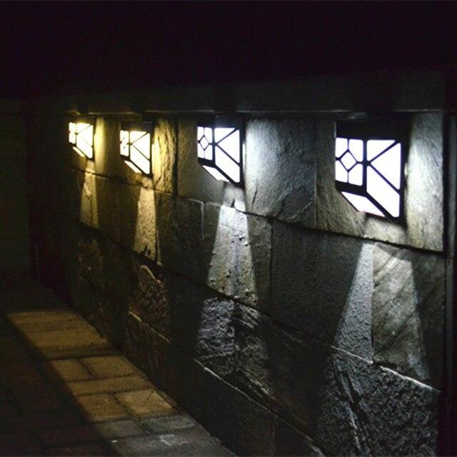 Solar Led Wall Light For Garden Decoration Courtyard Bulb Lamp Fence Lights Warm White