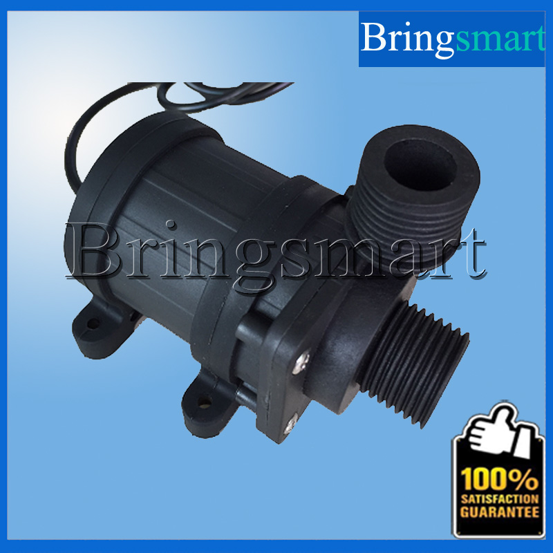 ФОТО JT-800BX 1000L/H 7.5M 12V 24V DC Brushless Water Pump 4 Point Screw Thread Whorl  Water Heater Booster Pump Flow Switch