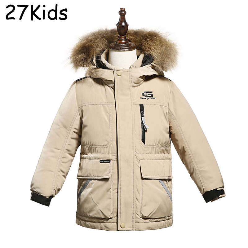 Teenagers Down Coats Girls Long Parka Removable Raccoon Fur Hooded Winter Thick Girl Regular Type Down Jacket High Quality 4-14T nike alliance parka 550 hooded
