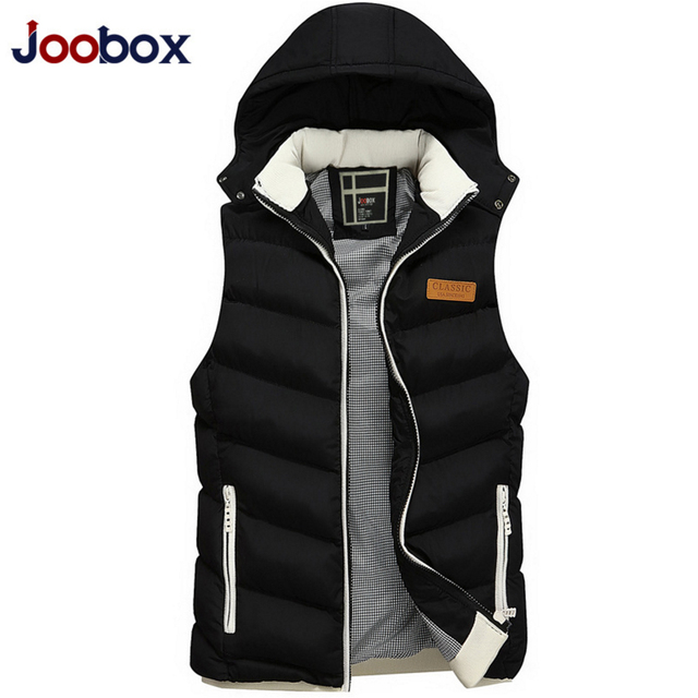 JOOBOX 2017 New Brand Men Sleeveless Jacket Winter Casual Down Vest Cotton-padded Slim Men's Vest Thickening Waistcoat (MJ03)
