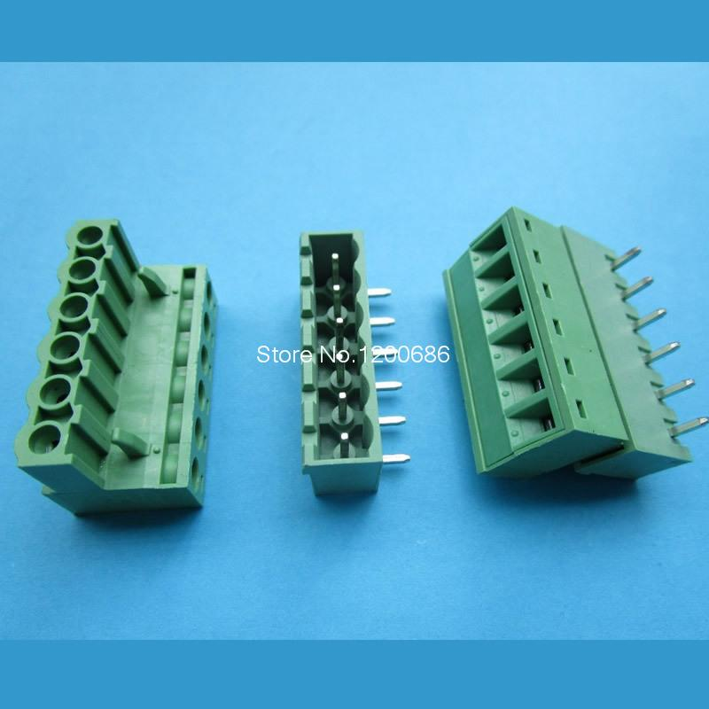 6pin 5.08 Right angle Terminal plug type 300V 10A 5.08mm pitch connector pcb screw terminal block connector