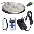 5M 300leds DC12V Single color LED Strip Flexible Light SMD 2835 +11key RF remote control +12V 2A Power Adapter Supply Driver set