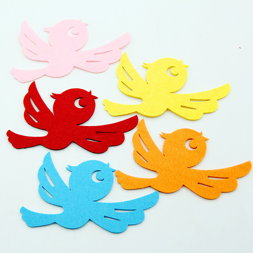 DIY Cartoon Animals Colorful Bird Cutting Felt Handmade Fabric Material For Decor Kindergarten Child Parents Cooperation Crafts