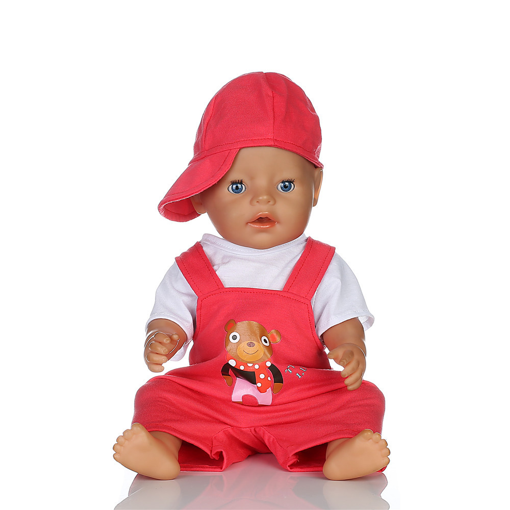 Red Hat T shirt Rompers Doll Clothes Wear fit 18 inch