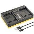 Protby np-bn1 np bn1 cargador usb dual para sony cyber-shot dsc s750 dsc s780 w630 w310 tx5 t99