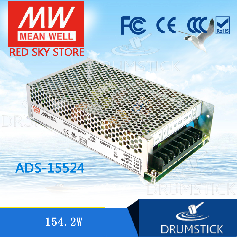 Selling Hot MEAN WELL original ADS-15524 24V meanwell ADS-155 154.2W Single Output with 5V, 3A DC-DC Converter ads 132mc