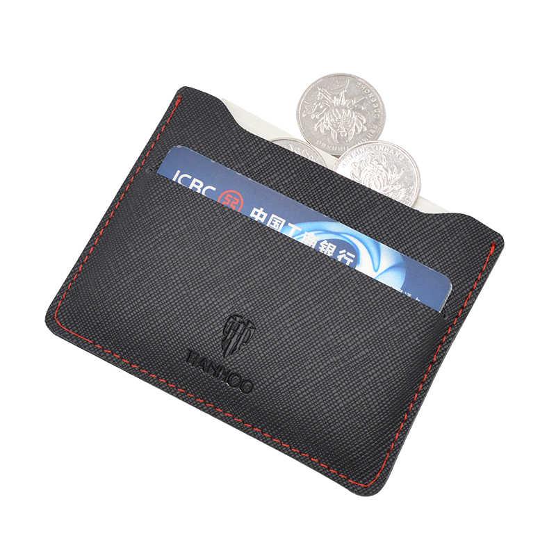Moda damska mężczyzn Slim Mini skóra posiadacz karty kredytowej ID torebka-portfel etui książki etui na paszport okładka sprzedaż hurtowa