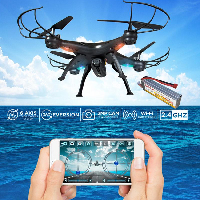 4CH FPV Real Time Wifi Wireless RC Remote Control Drone Quadcopter Video Camera Black High Quality  wireless charger wifi remote control car with fpv camera infrared night vision camera video toy car tanks real time video call