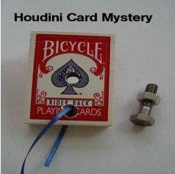 Frete grátis, Houdini Card (Escape) Mistério-Cartão de truques de Mágica, de perto, a magia de palco, acessórios, novidades, ilusões