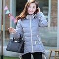 Новый 2017 Женщины Пиджаки С Капюшоном Парки Легкие Куртки Плюс Размер 3XL Мода Хлопка Пальто Зимой Толстые Куртки Случайные Пальто
