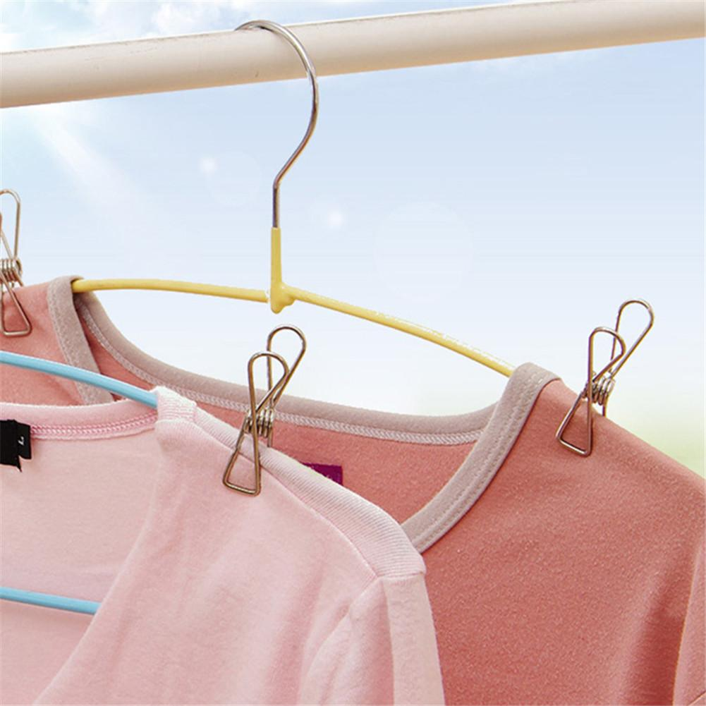 Image 4 - 30pcs Stainless Steel Spring Clip Drying Rack Accessories Fixed Clothes Household Drying Tools-in Clothes Pegs from Home & Garden