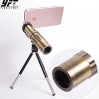 YIFUTE universal 20x Optical Telescope Lens Mobile Telephoto zoom Lentes with Tripod for Samsung iPhonne plus Xiaomi more phone