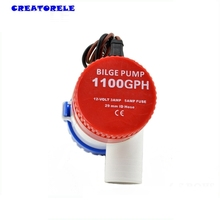 1100GPH bilge pump 12V bilge pumps High flow submersible used in garden seaplane motor homes house