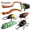 Dongzhur Kids Remote Control Toys Infrared RC High Simulation Animal Cockroach Spider Insect Induction Toys Mischief Funny Toys