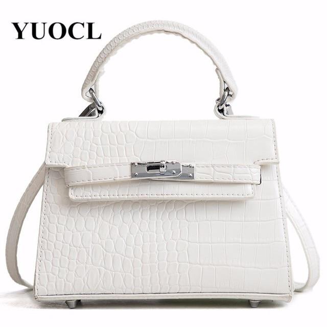 6bb0d6cc70 2018 crossbody bags for women leather handbags luxury handbags women bags  designer aligator leather shoulder tote bag sac a main