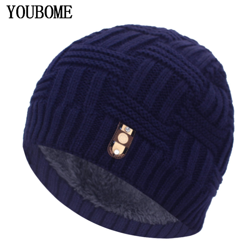 YOUBOME Winter Hat Men Skullies Beanies Knitted Hats For Men Women Mask Male Warm Soft Thick Bonnet Gorras Knit Beanie Hat Cap