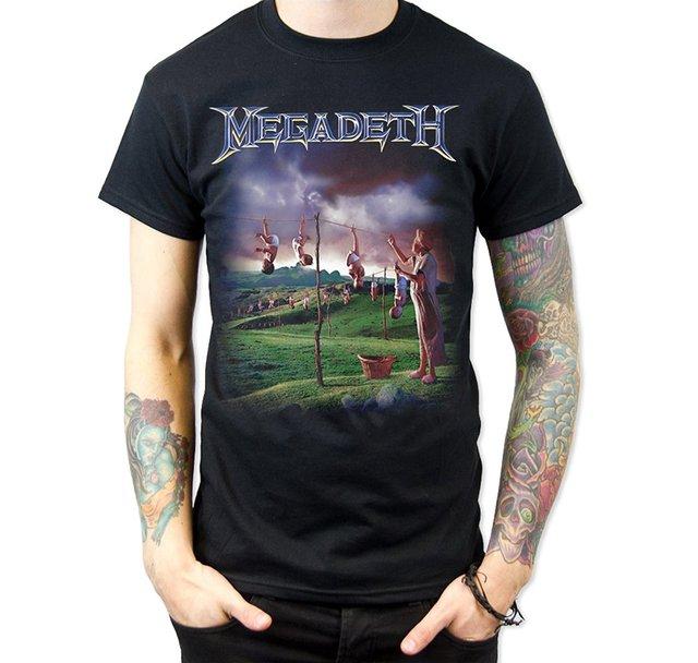 cd6cfd9271eb1 Hombres de la moda de verano camiseta Megadeth youthanasia camiseta impresa  hombres