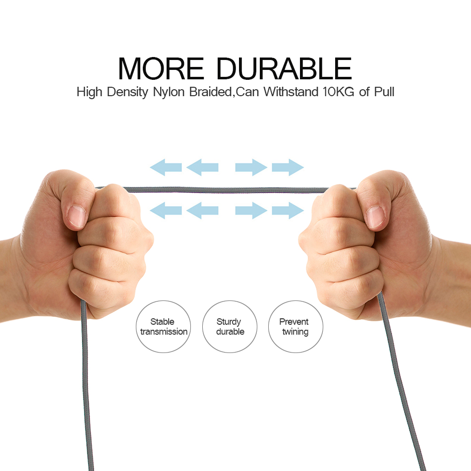 Image 4 - 2pcsUSB Cable Type C Cable  Micro USB Cable for Samsung Xiaomi Huawei LG,Charging USB Cable for iPhone X 8 7 6 6S puls 5 5S SE-in Computer Cables & Connectors from Computer & Office