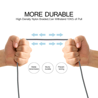 5 iphone 5s 2pcsUSB Cable Type C Cable  Micro USB Cable for Samsung Xiaomi Huawei LG,Charging USB Cable for iPhone X 8 7 6 6S puls 5 5S SE (4)