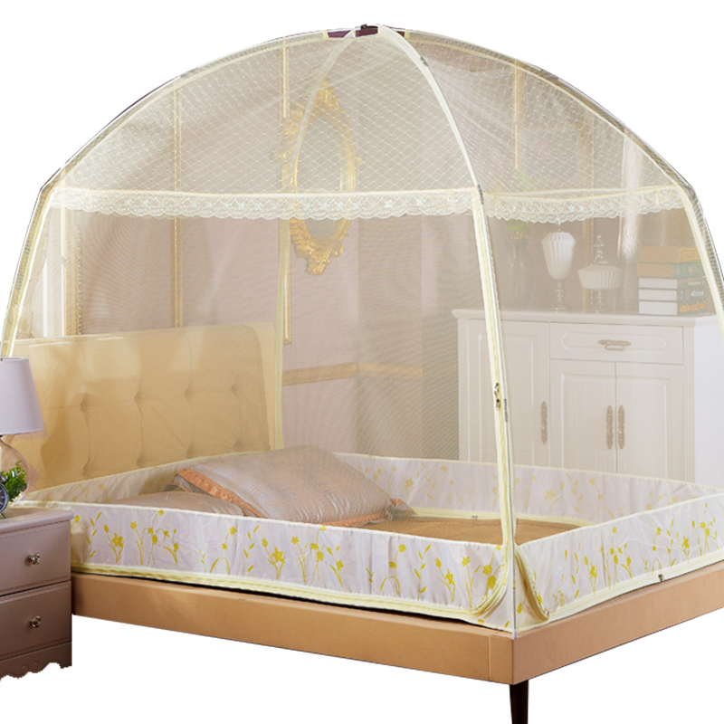 Portable Folding Mosquito Net Summer Yurt Net For Single Double Bed 5 Colors Mesh Netting Tent