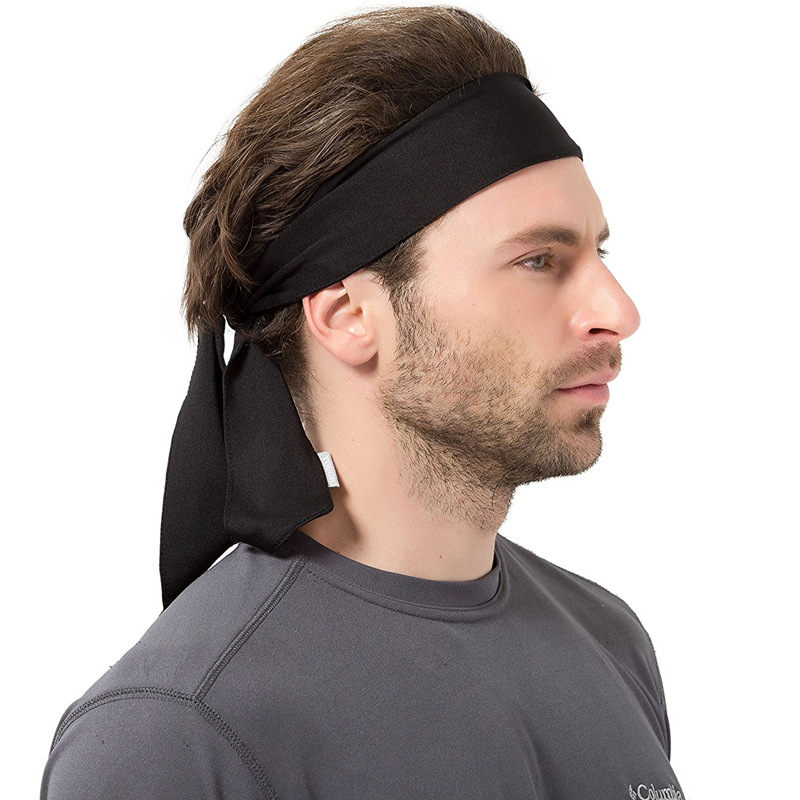 2 Pcs Headband Men Couple Headbands Hair Outside Sport Man and Women Basketball Run Bandanas Antiperspirant Hair band ...