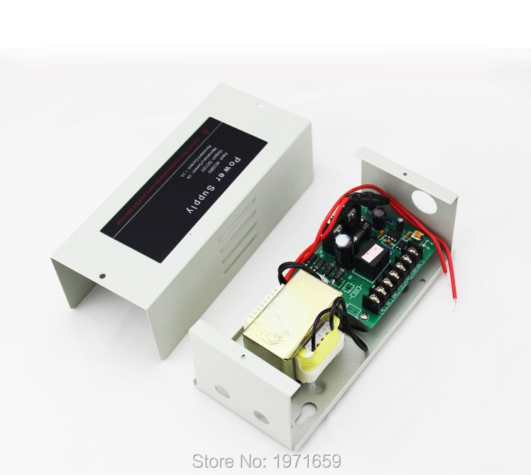 12v/ 5A Transformer Controller access control power supply combination with lock card reader with metal shell wholesale dc12v 5a access control power supply controller