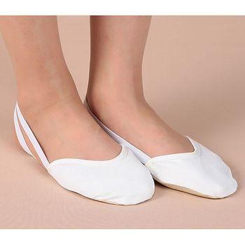 d73530421 1 par de zapatos de baile de punta de Ballet medio suave zapatillas de  Gimnasia Rítmica 2 colores calcetín de gimnasio accesorios de práctica del  ...
